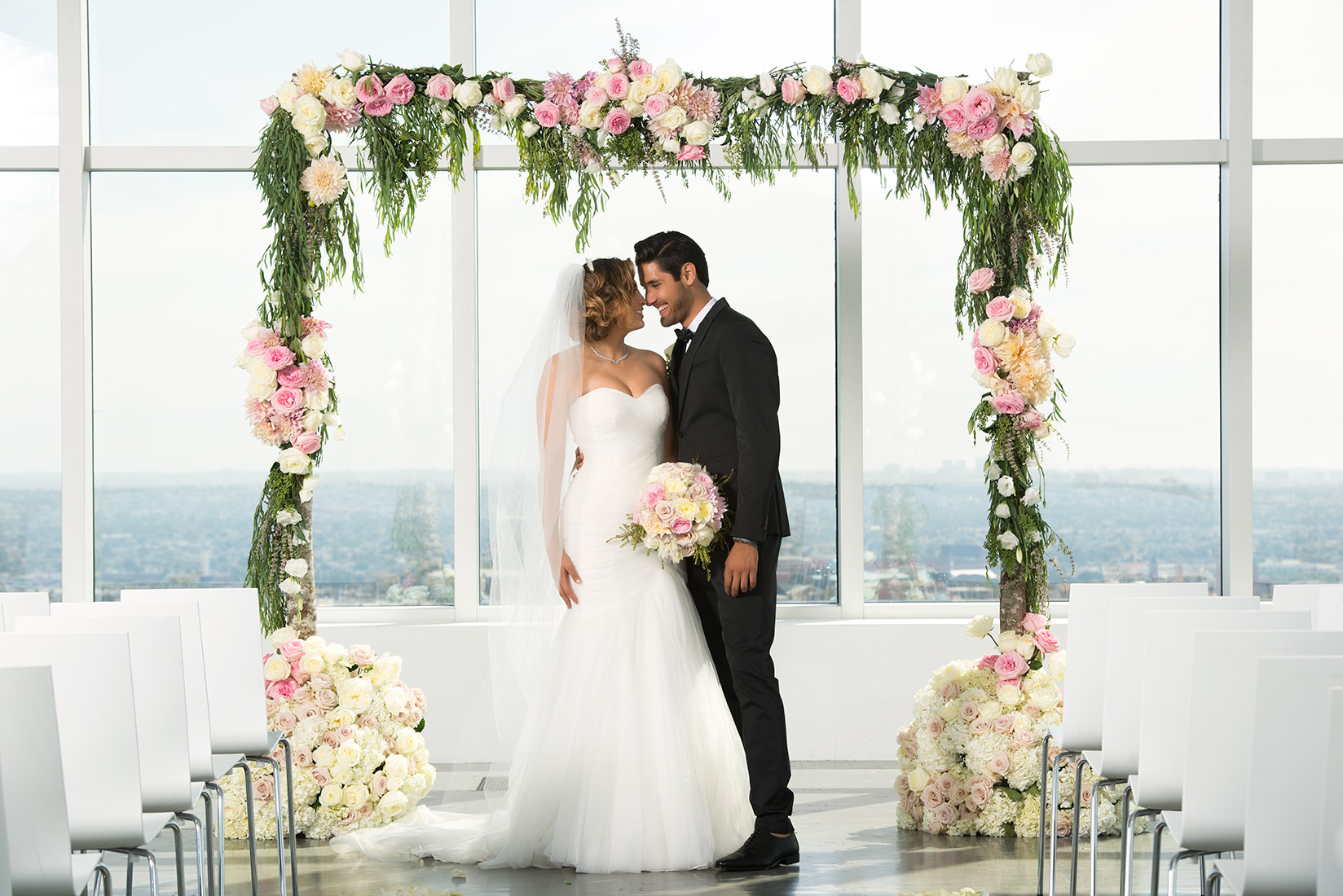 A ceremony backdrop for all styles to compliment your \
