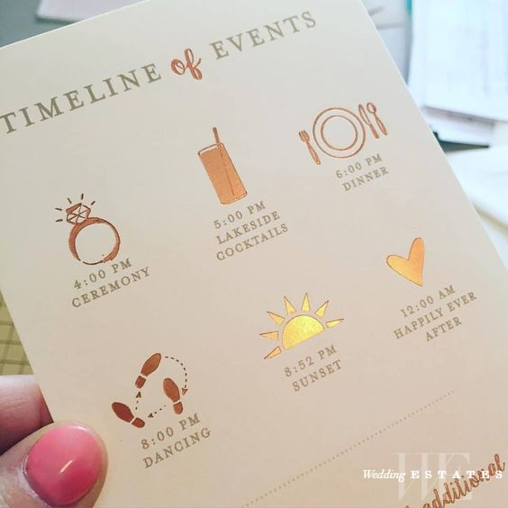 How to create a wedding day timeline | Wedding Estates