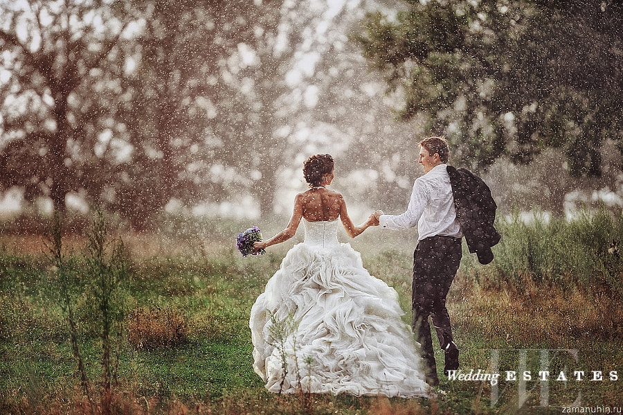 A Brides Gest Wedding Day Fear Besides Having No Show Groom Is Rainy Forecast Yes Rain Can Put Damper On Your Plans But It S Really